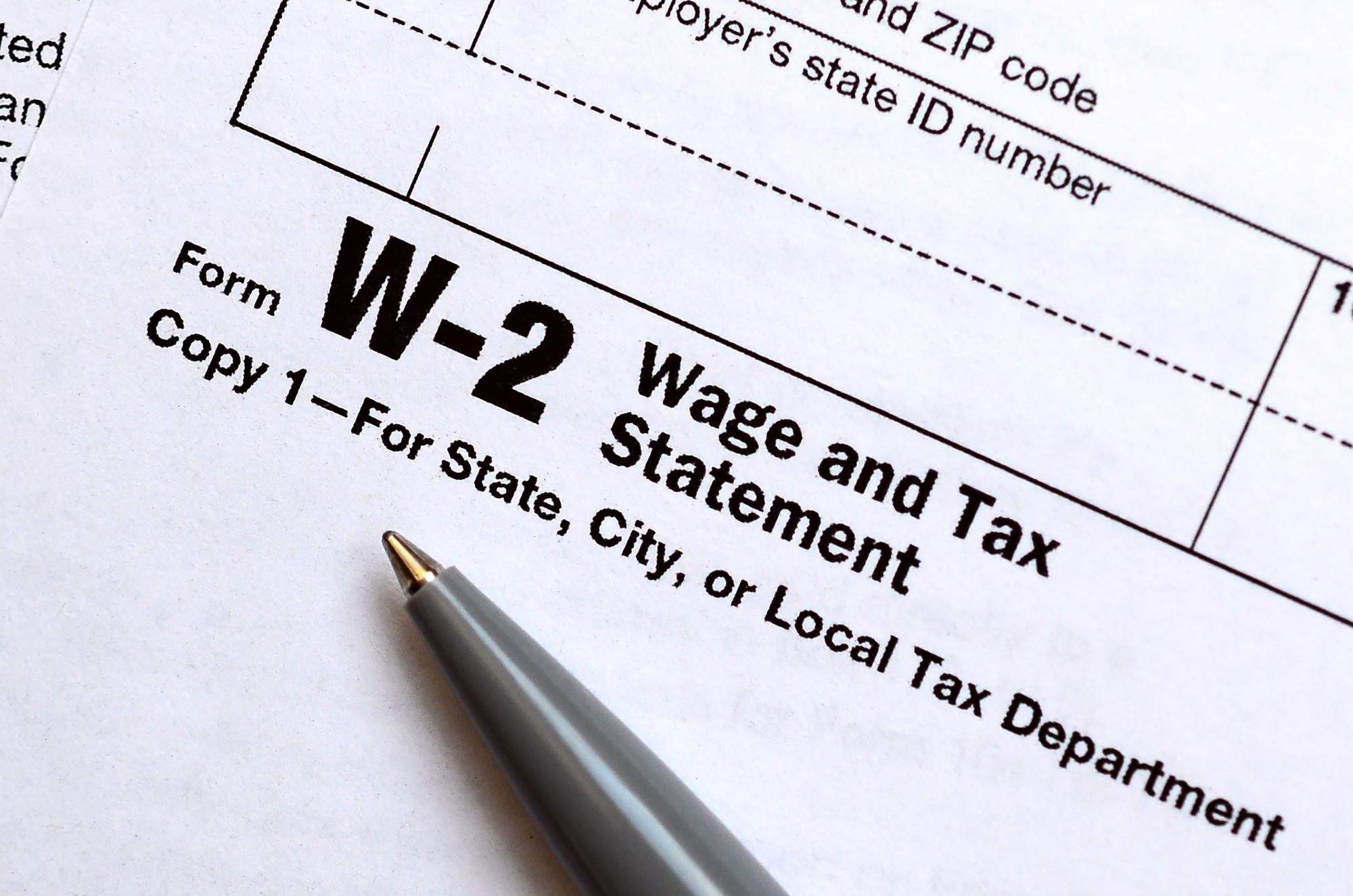 At Least 2 Years of W-2 Forms